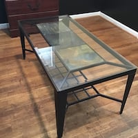 Glass coffee table with metal frame Randallstown, 21133