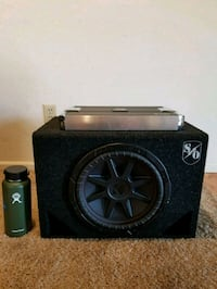 12 inch kicker subwoofer w/ported box and amp 2359 mi