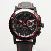 Burberry Stainless Steel Black Dial Chronograph Wristwatch Woodbridge, 22192