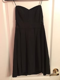 Black Strapless Dress With Lace