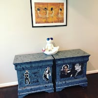 blue and white wooden cabinet Great Falls, 22066