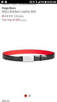 Brand new black and red Hugo Boss belt size 40 Hagerstown, 21740