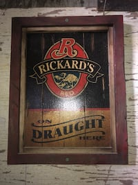 Wooden rickards red beer sign Calgary, T2K 4T8