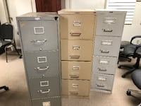 two gray metal 4-drawer filing cabinets MALTON