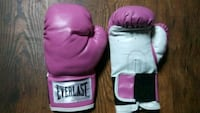 pair of pink-and-white Everlast boxing gloves Cincinnati