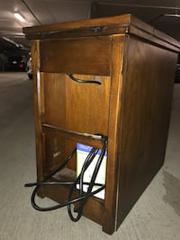 Nightstand with extension cord