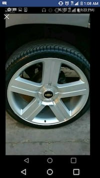 """6 lugchevy26 """" texas editon wheels with new tires  Lubbock"""
