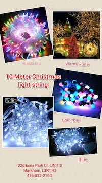 LED Christmas Light String 10 Meters 100pcs light Markham, L3R 8K6