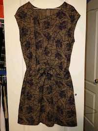 women's black and brown floral sleeveless dress Richmond Hill, L4S 1T2