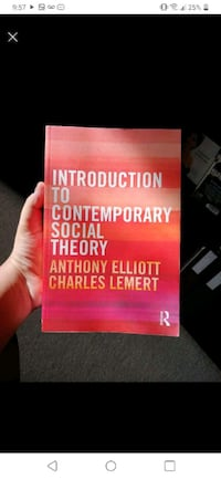 Introduction to Contemporary Social Theory Book