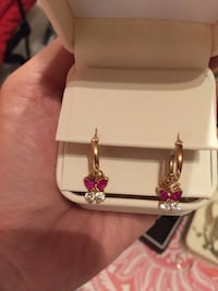 Beautiful earring 18k yellow gold and color stone Arlington, 22206