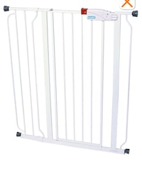 Extra Tall Walk-Through Gate, White, 41-in 648 mi