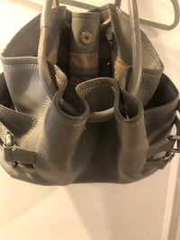 Authentic Cole Haan large grey learher bag ~ retailed &580+