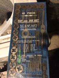 40 Piece tap and die set box