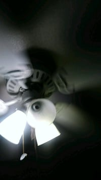 white and black 5-blade ceiling fan Victorville, 92394