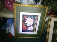 white magnolias painting and brown ornate frame Muscle Shoals, 35661