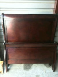 brown wooden bed headboard and footboard Jacksonville