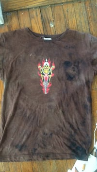 One of a kind customized Biker t shirt Charleston, 61920