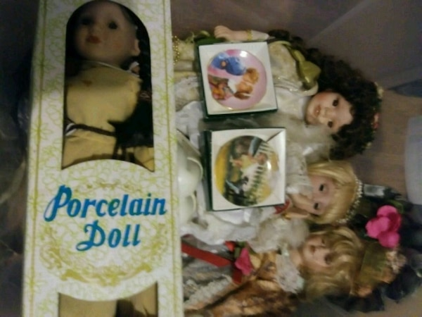 Porcelain Dolls. 2 are fiber optic they are 10