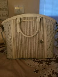 brown and white leather tote bag Lithonia, 30058