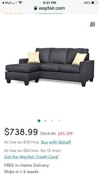 ITS BRAND NEW PEOPLE! SOFA - Wayfair Reversible Sectional Maplewood, 07040
