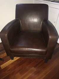 brown leather padded sofa chair Bethesda, 20814