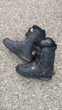 Pair of black leather ski/snowboard  boots Calgary, T2A 7M6