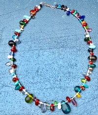 yellow, red, and green beaded necklace