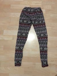 white, black, and brown fair isle sweatpants London, N5V