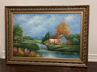 Price Negotiable Beautiful calming painting with golden frame Toronto, M6G