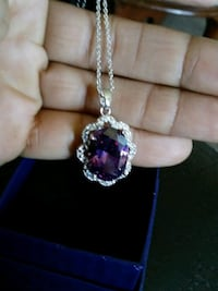 Amethyst necklace silver Concord, 94520