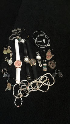 assorted accessories and watches