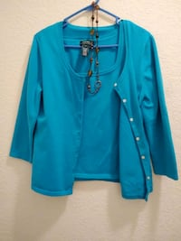 Ladies Ralph Lauren top cardigan & tank in one