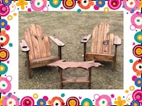 STAINED Michigan Adirondack chair set! Treated wood- $350 Bloomfield Hills, 48304