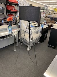 Black Lamp with Gold Legs $69 Houston, 77092