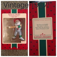Vintage Hallmark Santa at Bat Christmas ornament from 1987 Brand NEW! Dallas, 75248