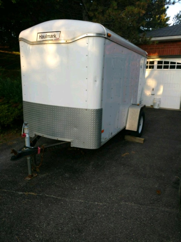 Covered trailer.