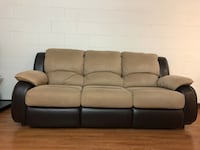 Brown 3-seat sofa open to queen bed - like new with plastic still in bed Seattle, 98104