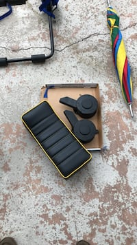 two black vehicle parts and black and red leather pad Redondo Beach, 90277
