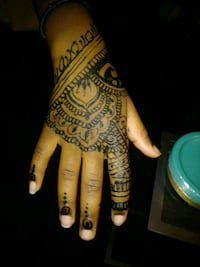 Black henna, tattoo art Alexandria, 22311