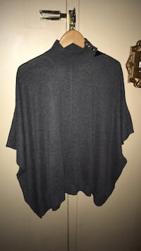 New ladies dark grey oversized style sweater mock neck fits like a poncho style sweater Oakville, L6K 1Y8
