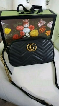 black Gucci leather crossbody bag Mississauga, L5W 1P1
