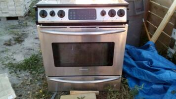 gray and black electric oven