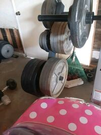 OLYMPIC WEIGHTS.SOME ARE BRAND NEW AND SOME ARE LIKE NEW. $.90 PER LB.