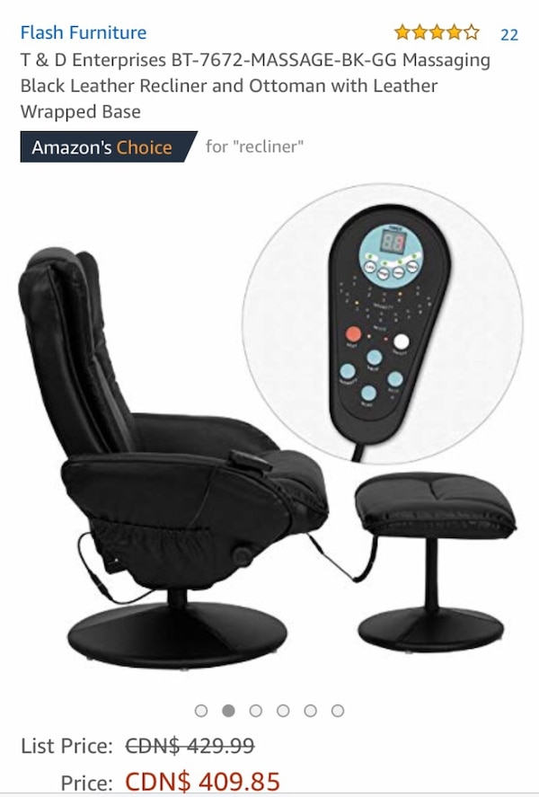 Massage chair and ottoman  7b606be9-38c0-4f99-8503-fe07cd81c2c1