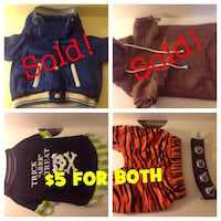 Dog Clothing- 2 FOR $5 Brampton, L7A