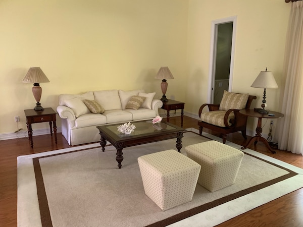 Barley used formal living room set