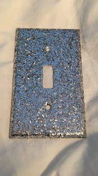 Light switch frame ( Silver Sparkly )