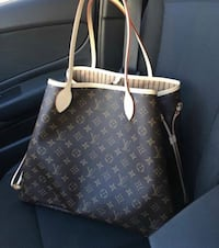 brown Louis Vuitton monogram leather tote bag Beverly Hills