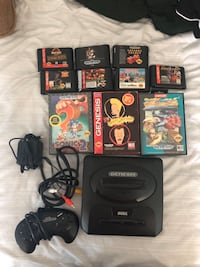 Sega Genesis with games , 08080